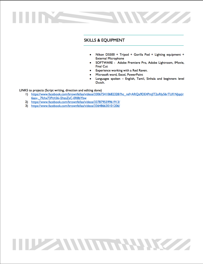 Creative Resume + Resume – FoppinAround Blogs